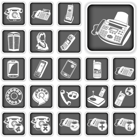 phone squared buttons  Stock Vector - 21653901