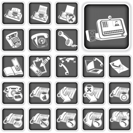 phone squared buttons 2 Stock Vector - 21653902