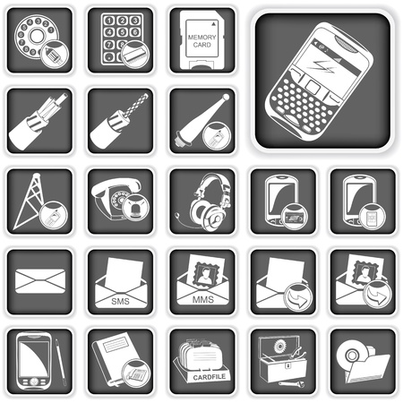 phone squared buttons 3 Stock Vector - 21653903