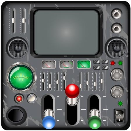 oscilloscope: retro control panel