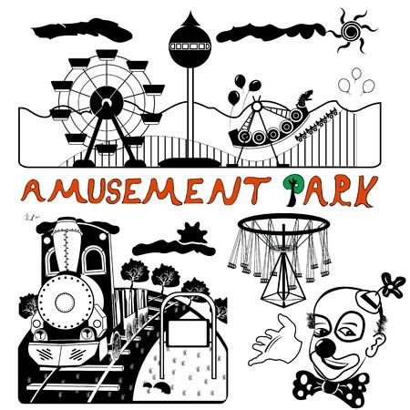 rollercoaster: vector amusement park