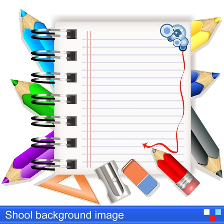 Illustration of vector school notebook  background image Vector