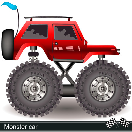 monster car Vector