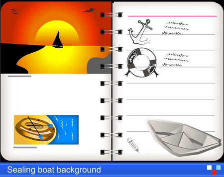 Sealing boat background Vector