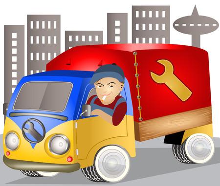 truck driver: service truck driver