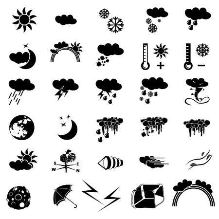 weather black icons Vector