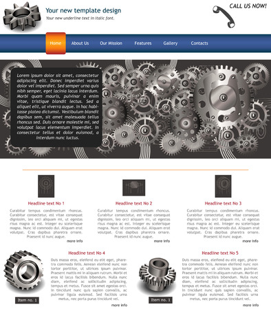 website template 10 Vector