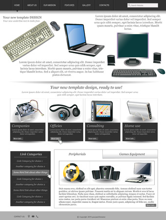 sidebar: Website template design along with icons and images  Computer and technology related