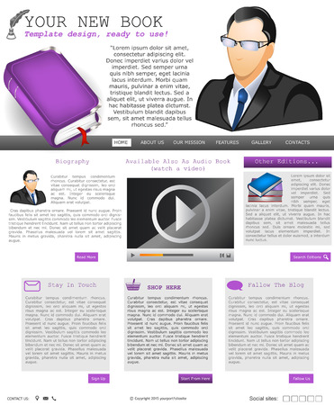 net book: Website template design along with icons and images  New book