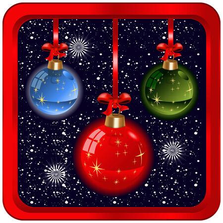 ios: Christmas bulbs vector illustration icon for app and ios. Illustration
