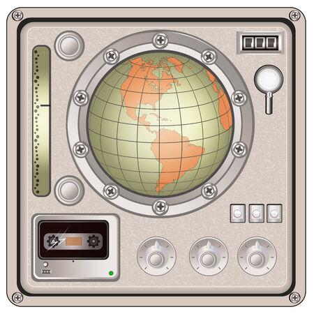 ios: Vector illustration d'une ic�ne du panneau de commande mill�sime