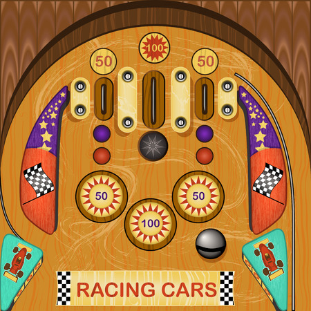 nudging: vector illustration of a detailed vintage pinball icon