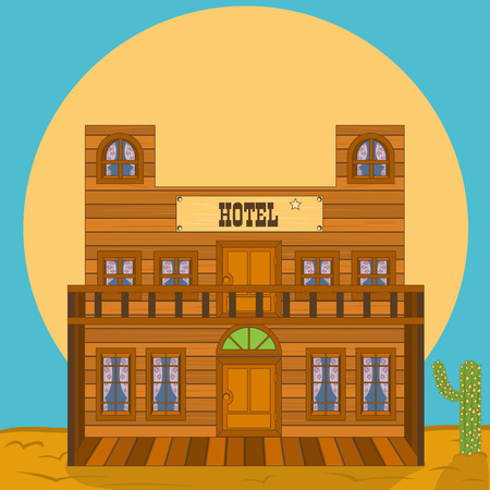 old west: Old west building - hotel