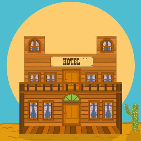 hotel building: Old west building - hotel