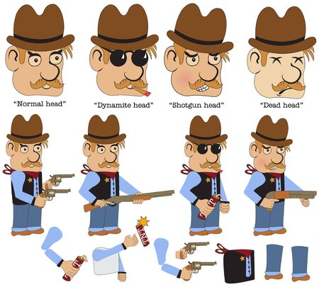 old west: Character sheet for an old west on line game, sheriff