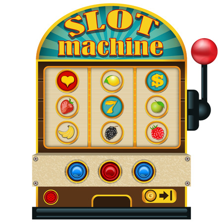casino machine: Slot machine icon