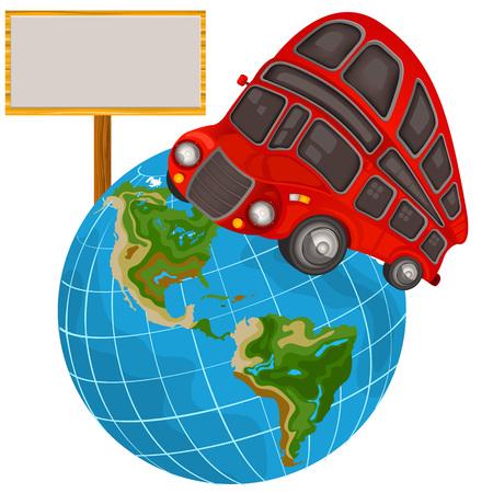 decker: Vector illustration of a double decker bus travel icon Illustration