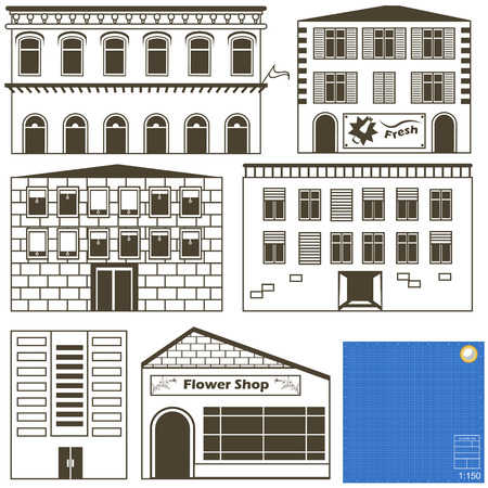 is outlined: buildings collection outlined