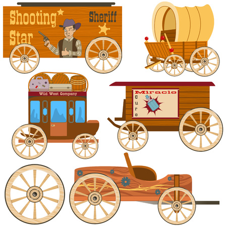 old west: Old west wagon collection