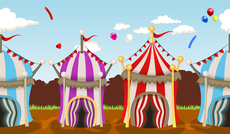 cupola: illustration of circus tent seamless background