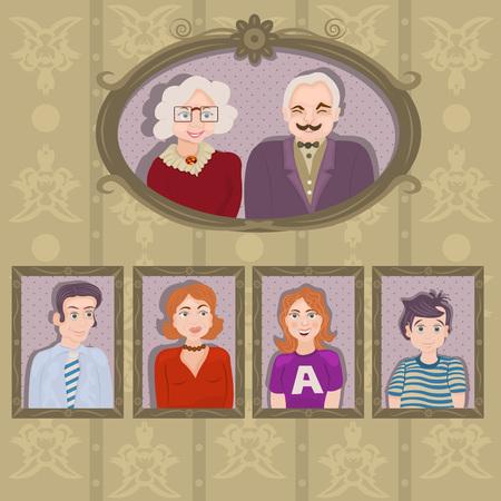 family portrait: family portraits in frames