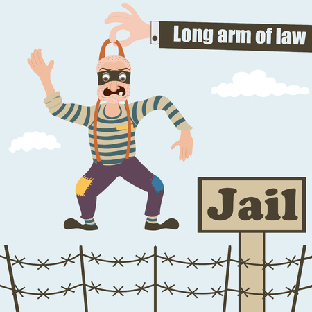convict: Long arm of law