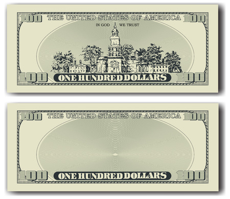 100 달러짜리 지폐 다른면 일러스트