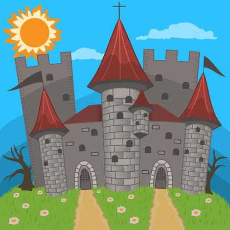 castello medievale: illustrazione castello medievale Vettoriali