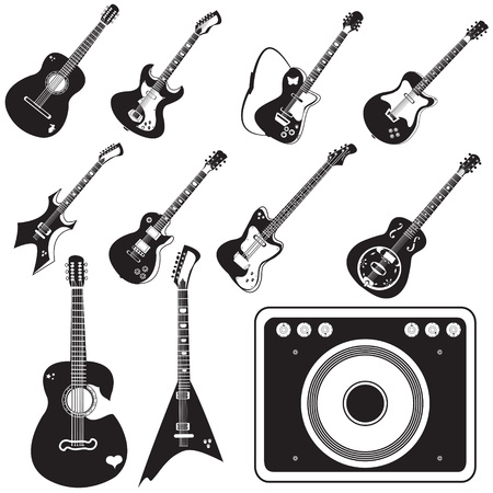 sunburn: guitars with amplifier black collection