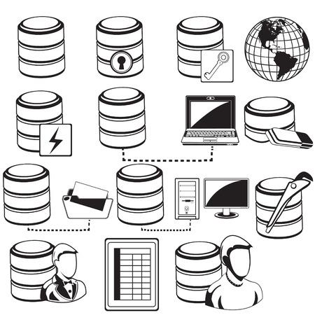 instance: Database black icons