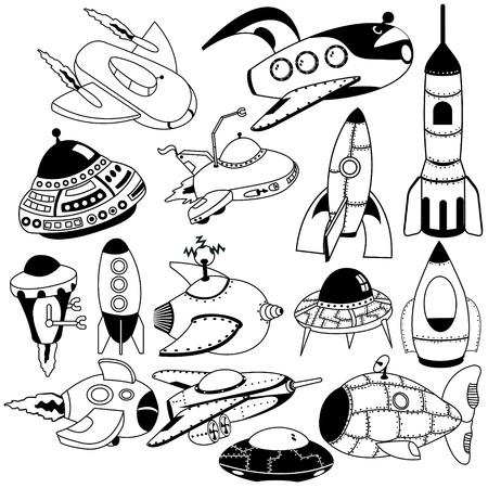 machines: retro space flying machines