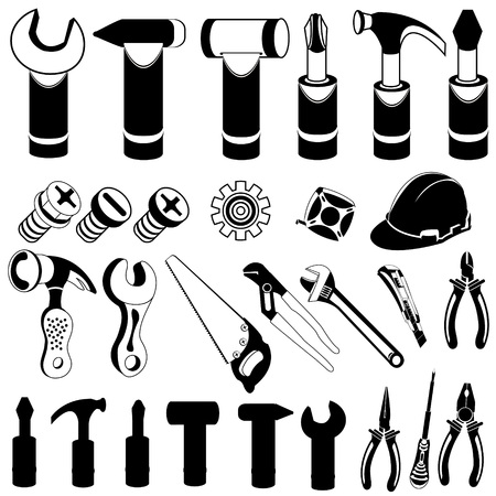 hand tool: hand tool black icons Illustration