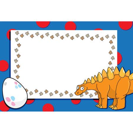 dinosaur egg: Dinosaur and egg on background for text