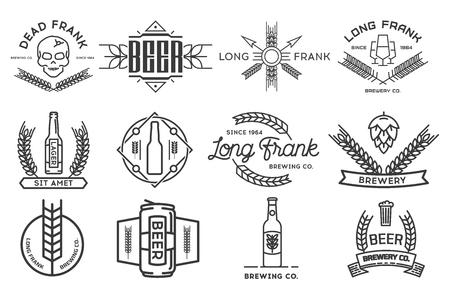 Vector beer labels.