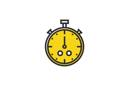 stock vector: Stopwatch. Outline colorful icon.Line art. Stock vector