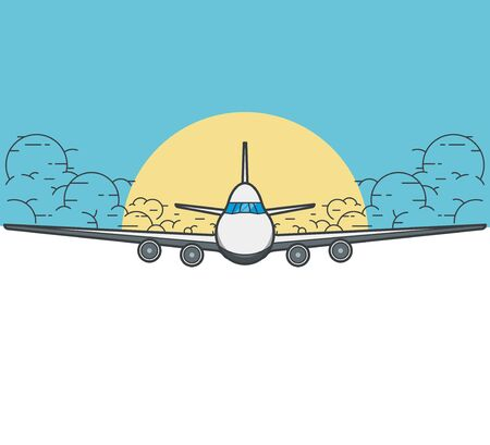 airway: Modern Banner with an airplane.
