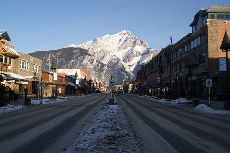 Town under mountain  Stock fotó