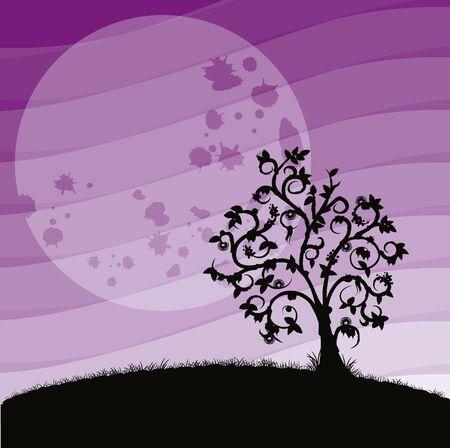 desolation: tree of desolation with lunar landscape