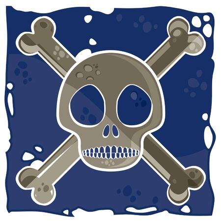 buccaneer: bizarre pirate flag special and fun Illustration