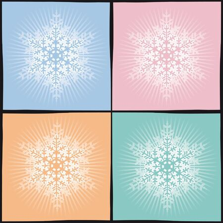 background snowflake in several colors Illustration