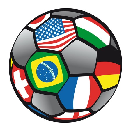 balloon of foot with flags