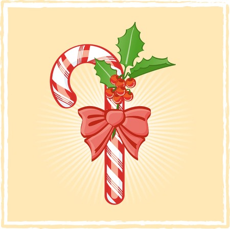 Candy cane on bright background