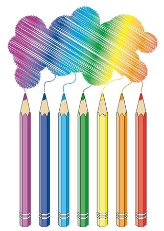 Crayons isolated on white background Vector