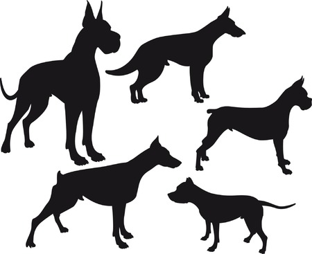 silhouette of dogs Illustration