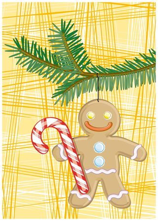 gingerbreadman: Gingerbread man with candy cane
