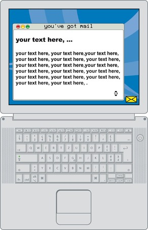 laptop with place for your text