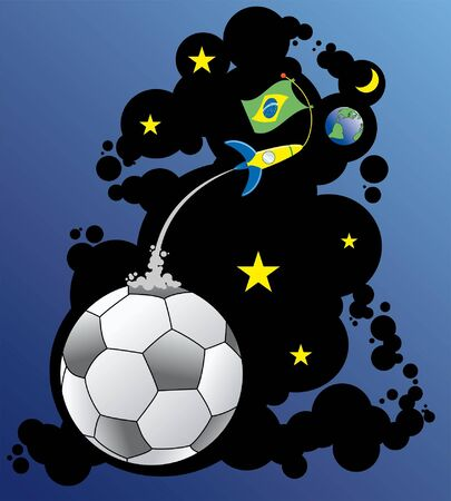 the Brazilian players of football are aliens Illustration