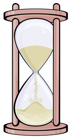 Hourglass isolated on white Illustration