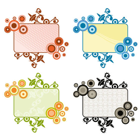 free vector art: four same labels with different style with place for your text