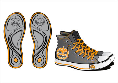 Pair of fancy shoes for Halloween